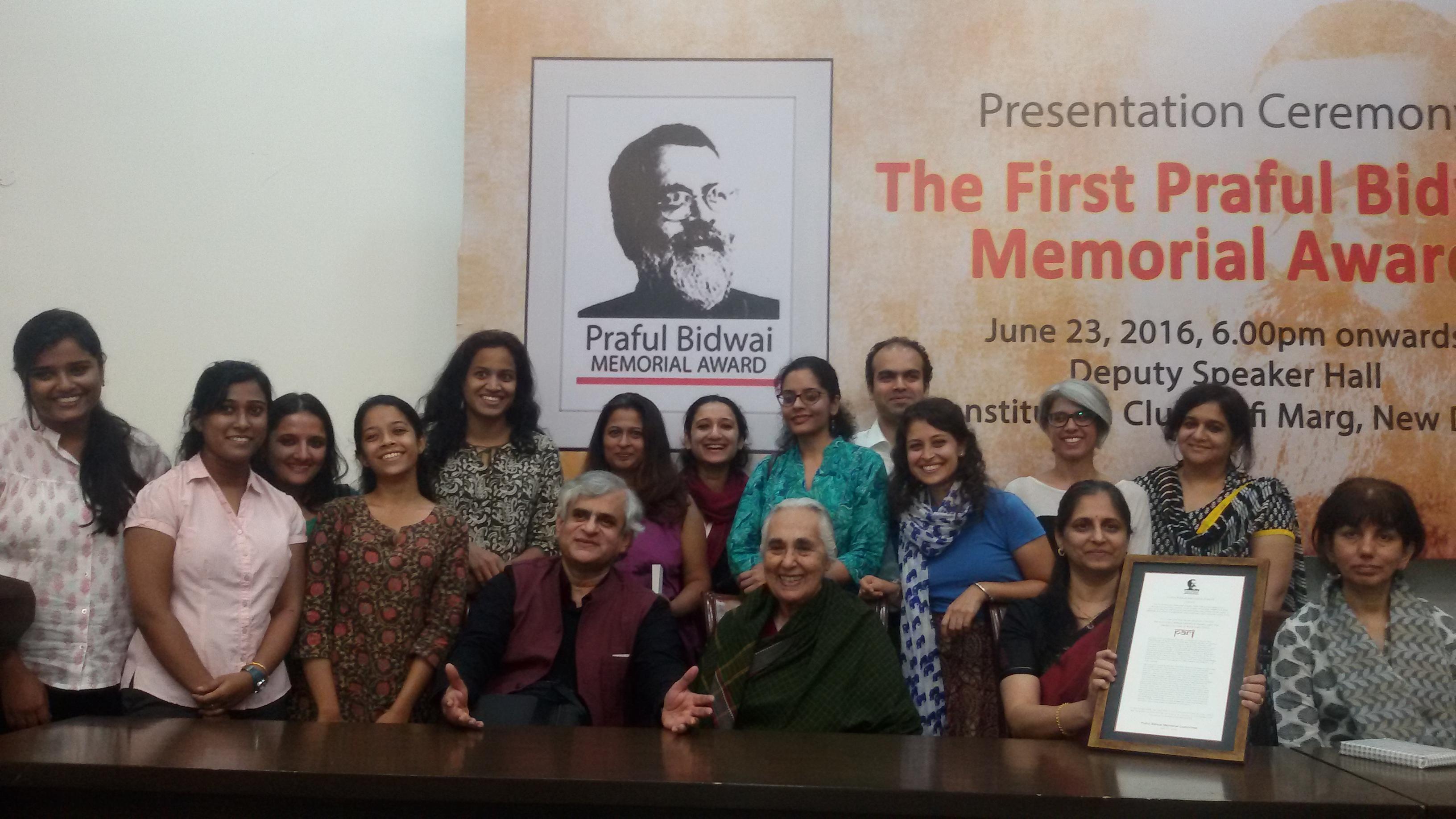 PARI receives the first Praful Bidwai Memorial journalism award