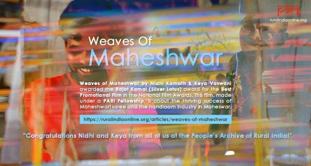 Weaves of Maheshwar by Nidhi Kamath & Keya Vaswani