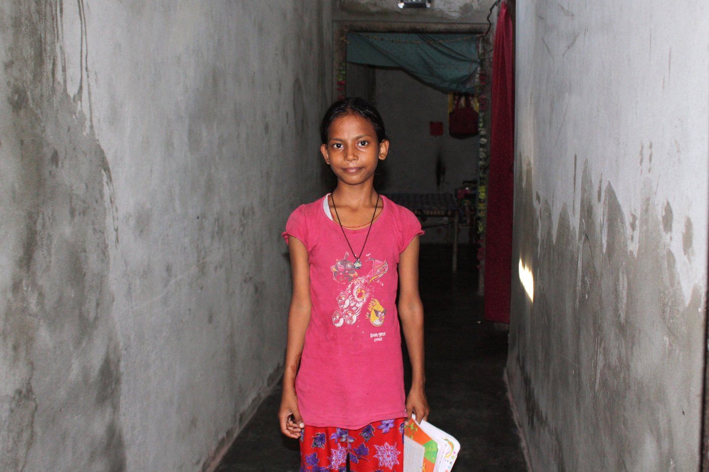 Dalit girl studying in school in the face of opposition