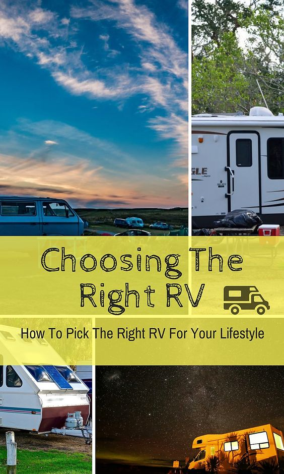 Choosing the right RV. Know the differences in RVs and compare before taking the plunge and making a purchase. Should you get a Travel Trailer, Fifth Wheel, Pop-Up, Toy Hauler? Learn the differences and know what RV will fit your camping style and budget.