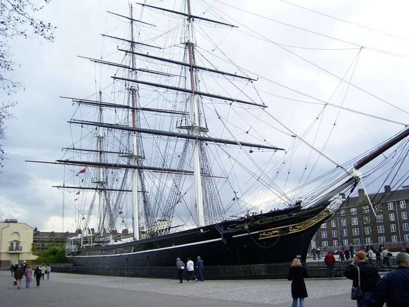 The Cutty Sark – a really cool ship. It was/is clocked as being the fastest ship to journey from Australia to England or something. It's right when you get off the ferry in Greenwich.