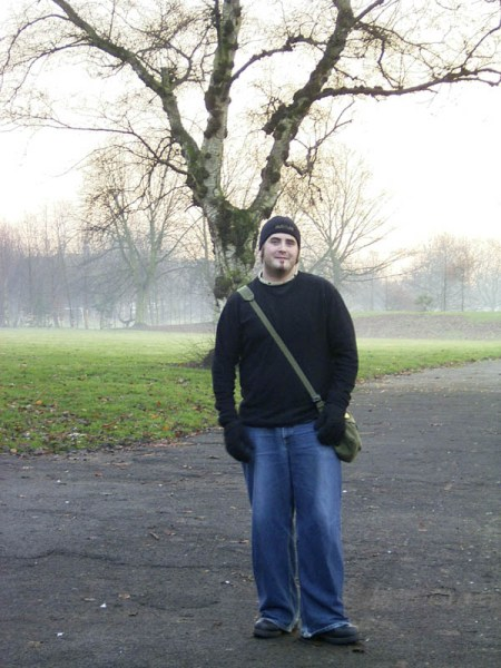 Me in a park in Chorlton by Dani's.