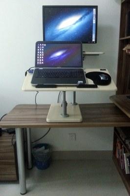 My lo-fi, retro-fit standing desk