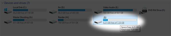 ini drive yang akan kita format, abaikan saja drive lainnya (screenshot)