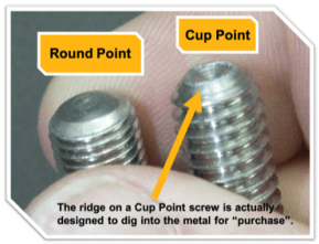 S-5!® Round Point vs Cup Point - The ridge on a cup point screw is actually designed to dig into the metal for 22purchase22