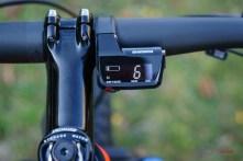 Elektronische Ganganzeige der Shimano XTR Di2, 11-speed