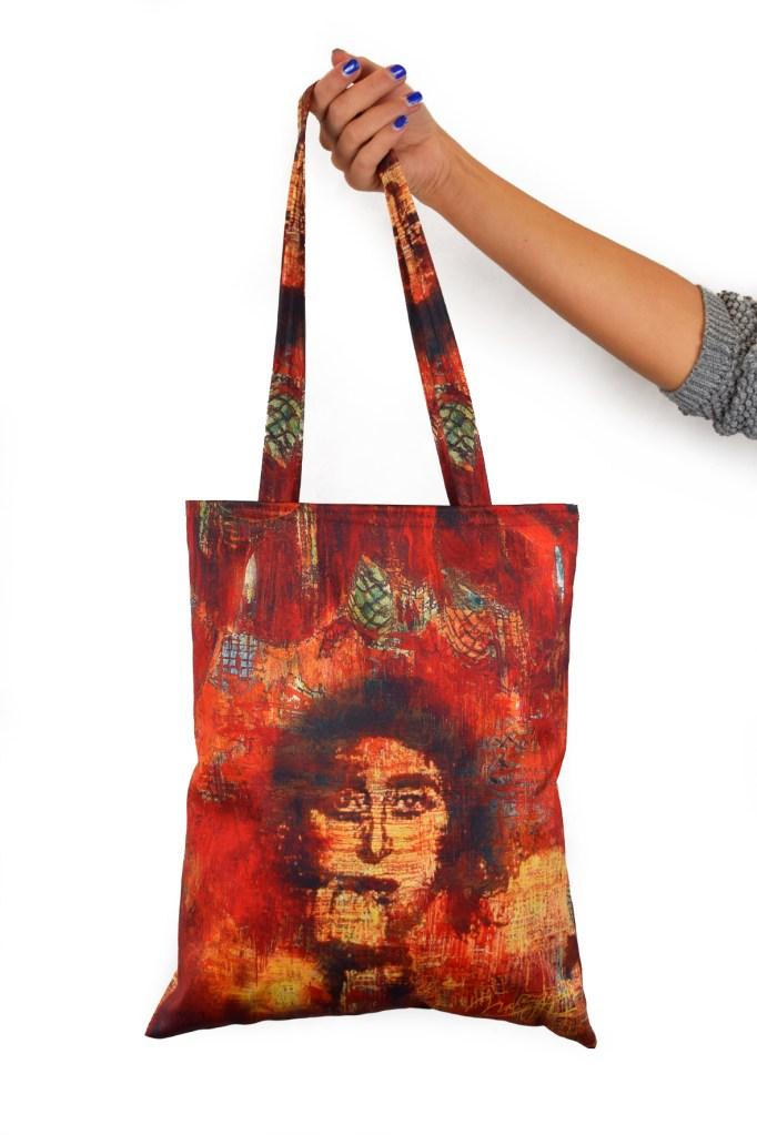 Shopping bag personalizzata con stampa digitale in sublimazione realizzato per il museo Zeffirelli