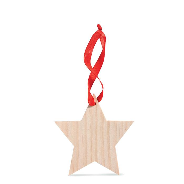 Stella in legno per l'albero di natale. Da personalizzare.