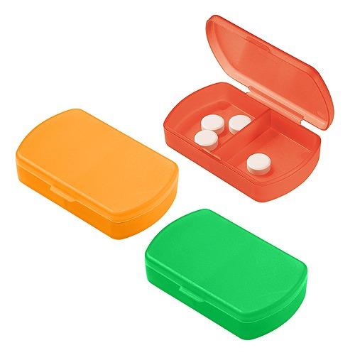 Tre portapillole colorati