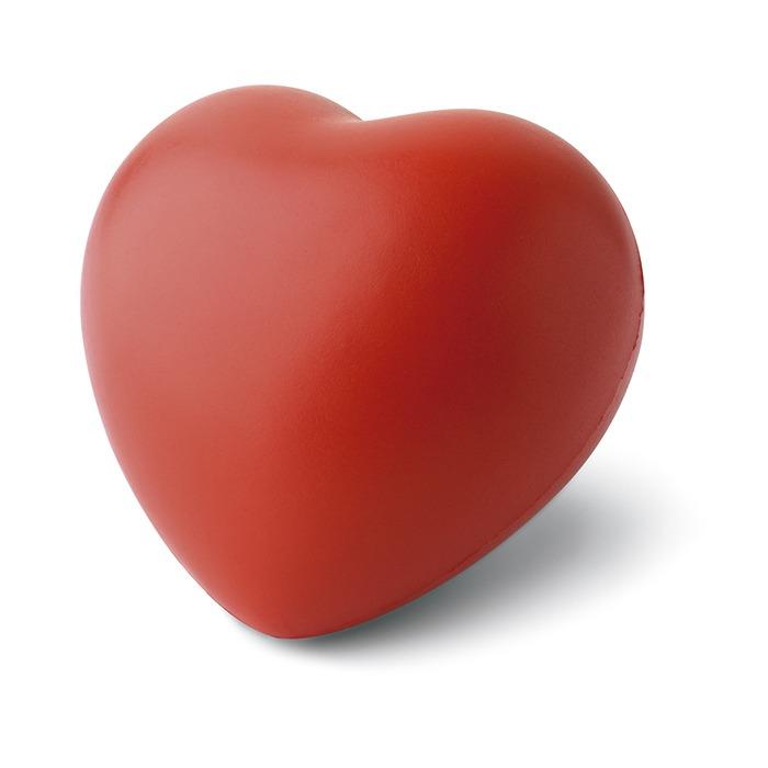 Antistress rosso a forma di cuore