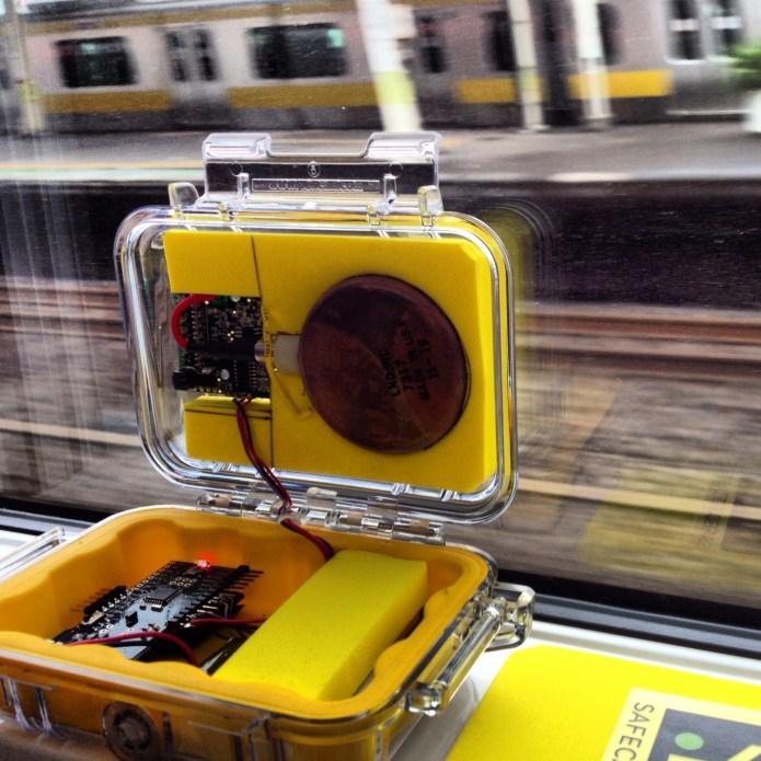 bGeigie Nano on the Narita Express