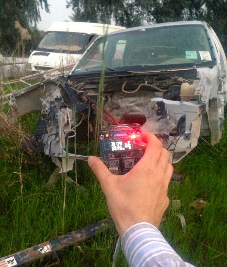 Radiation levels at abandoned vehicles