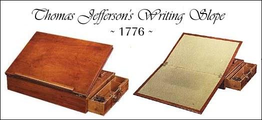 Thomas Jefferson's Desk-1776