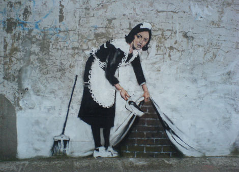 Banksy Maid, London, Courtesy BBC
