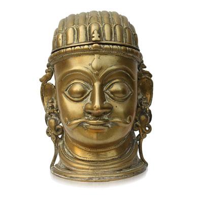 Mukha Linga, Brass, 20th century, Maharashtra/ Karnataka
