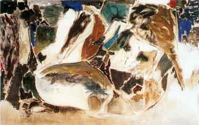Bal Chhabda, Sitting Nude, 1969Oil on Canvas