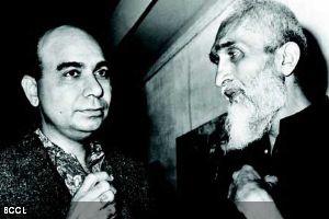 Bal Chhabda with M F Husain --Image Credit TOI