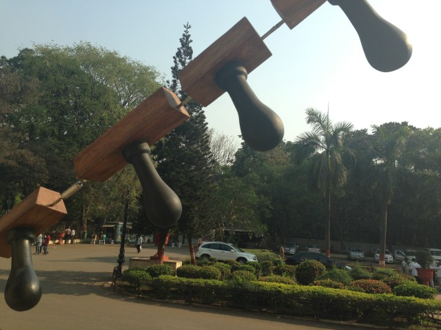 Reena Kallat's installation at Dr. Bhau Daji Lad Museum (detail)