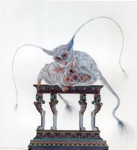Whimsy Beastie/BUSHVAMPS I, Raqib Shaw, 2012
