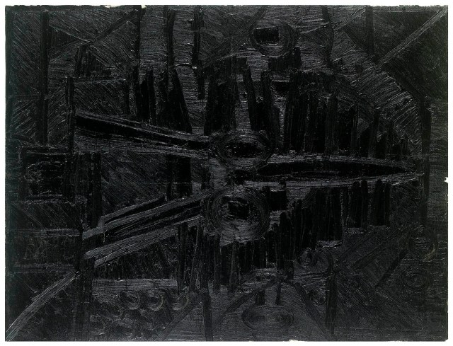 Untitled (Landscape), 1965, F. N. Souza. Image Credit: http://grosvenorgallery.com/art-fairs/current-art-fairs/frieze-masters/
