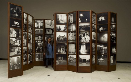 Dayanita Singh photographed in her 'Museum of Chance' at the Hayward Gallery. Image Credit: http://www.telegraph.co.uk/culture/photography/10356315/Dayanita-Singh-interview.html