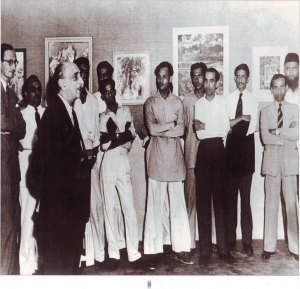 PROGRESSIVE ARTIST GROUP (PAG) | MUMBAI  1948 First show inaugrated by Sir Cowasji Jehangir