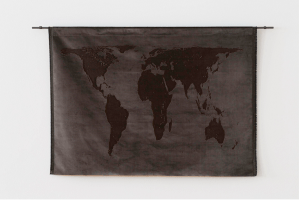 Mona Hatoum Projection (velvet), 2013 Silk velvet and mild steel 97 x 162 cm Read more at http://www.fiac.com/galeries/white_cube#Fqzvh35lpBO6mfFu.99