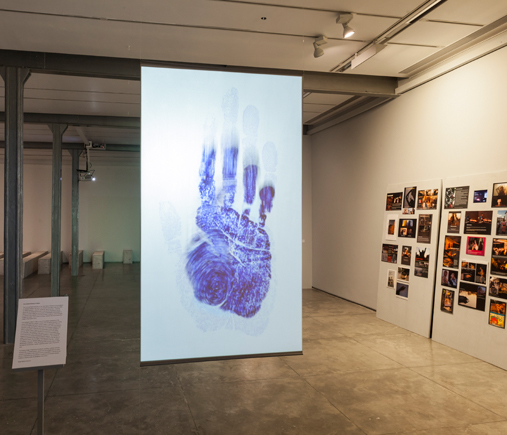 "Raqs Media Collective, The Untold Intimacy of Digits (UID). Projection, video loop (1""), 2011,"