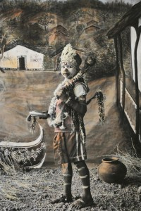 Image Courtesy: Connecticut Suresh Playing Hanuman, from the series  A Studio in Rajasthan (2007–present). Black-and-white digital  Print