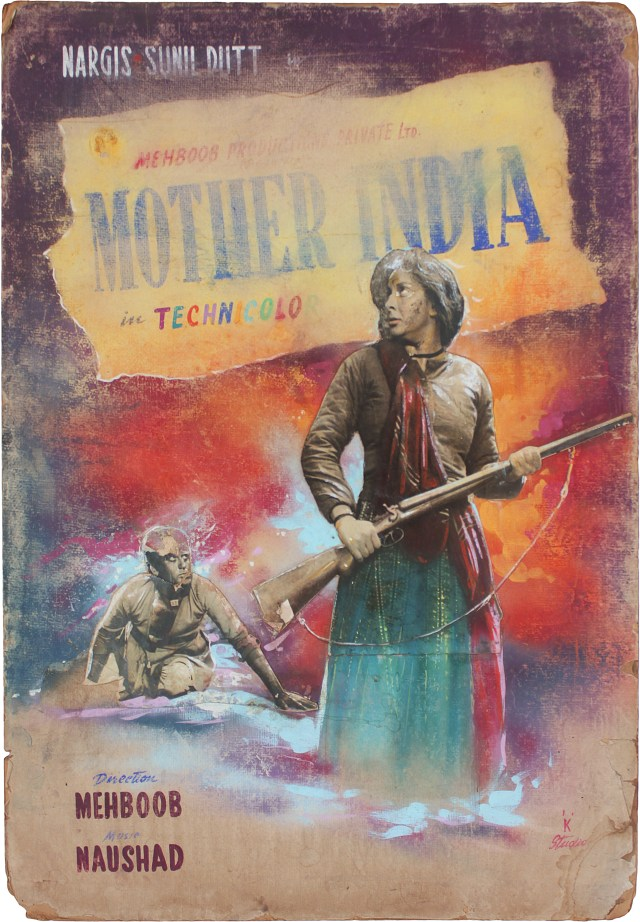 A Mother India (1957) show card