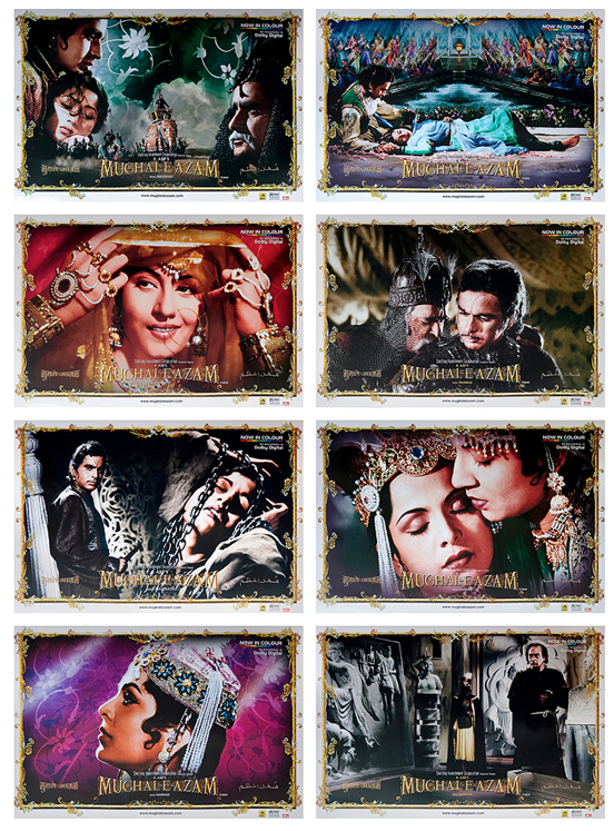 Set of 8 lobby cards from Mughal-e-Azam.  Available till 26 June on StoryLTD.