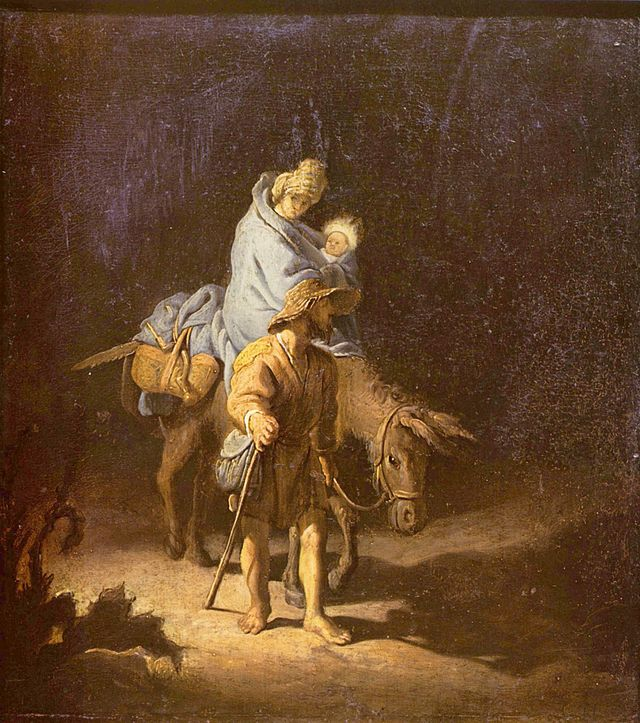 Dutch painter Rembrandt van Rijn's Flight into Egypt Source: http://en.wikipedia.org/wiki/The_Flight_into_Egypt_(Rembrandt,_1627)