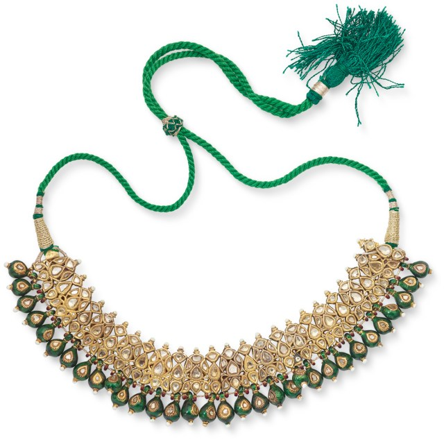 Lot 24: A Period 'Polki' Diamond Necklace