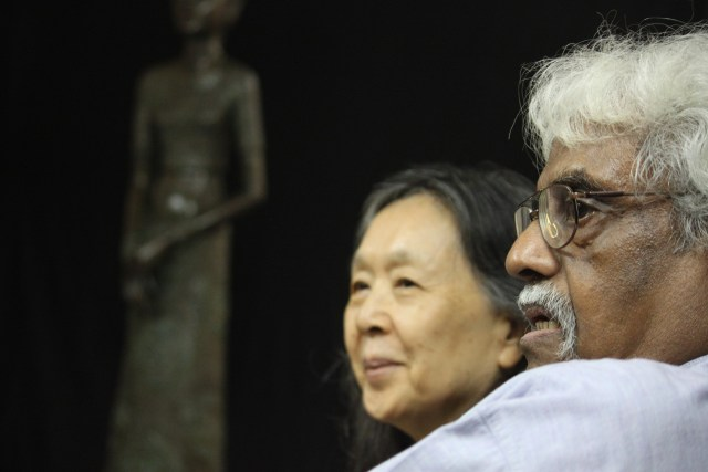 "A. Ramachandran, Manisha's guru and mentor, with his wife Chameli. Says Manisha, ""Introspective scrutiny and deep understanding. This is what Sir and Chameli aunty have given me for the thirty years that I have known them."""