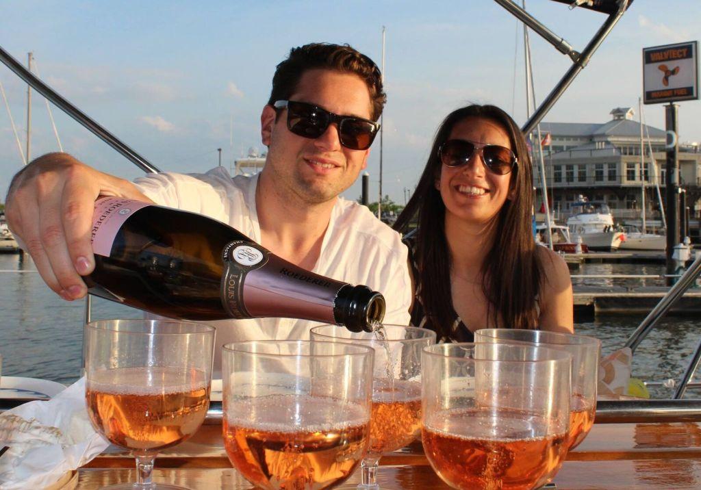 social drink on boat