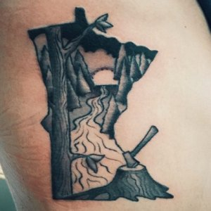 tattoo of the state of minnesota