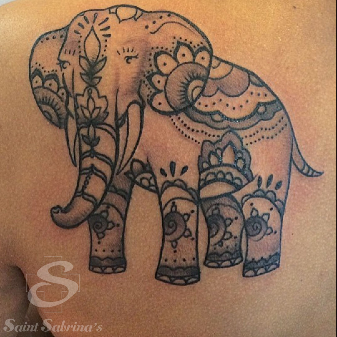 Elephant Tattoo by Taylor Dees - Saint Sabrina's Piercing ...