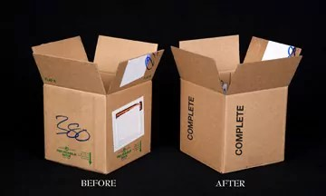 Image of opened boxes