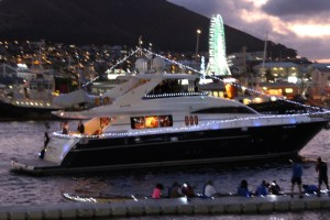 One of the more than 60 boats that participated in a fantastic 'Lighted Boats' parade at the V&A Waterfront during the three day launch of the SAMSA driven national Ocean Festival from October 30 to November 01, 2015.
