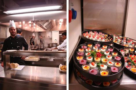 la cucina dell'Hotel Rosa Grand