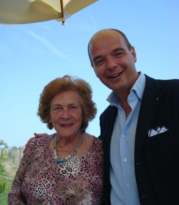 la signora Gina e Gianluca Bisol al Venissa | ©foto Sandra Longinotti