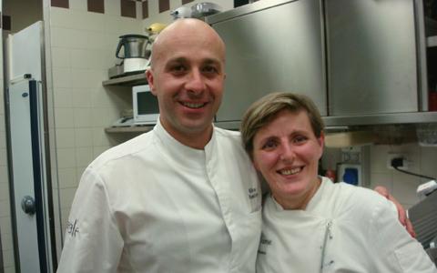 Niko Romito e Viviana Varese nella cucina di Sadler