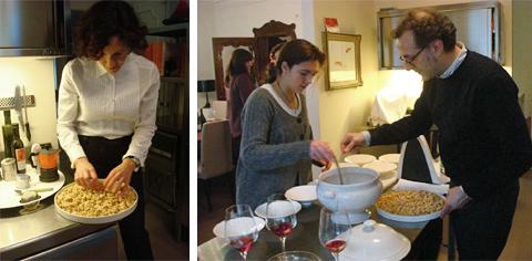 © Lara, Alexa e Massimo Bottura alle prese coi tortellini