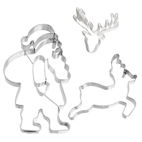 tagliabiscotti renne e Santa di Birkmann
