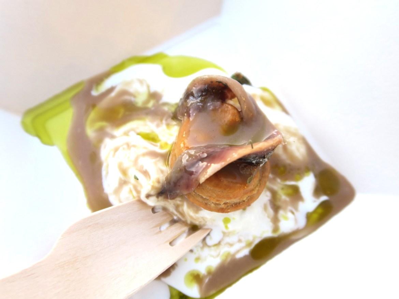 """la ricetta estiva """"Umami pugliese"""" che lo chef stellato Felice Sgarra ha preparato alla serata di gala di TEN al Sea Club   ©foto Sandra Longinotti"""