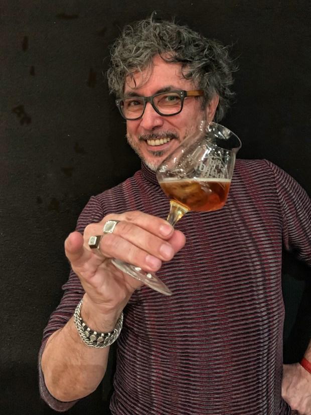 Teo Musso col suo Beermouth and Tonic   ©foto Sandra Longinotti
