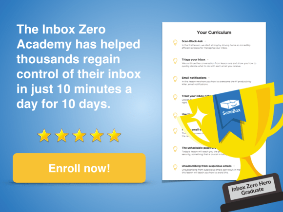 Inbox Zero Academy Enroll Now Display 3