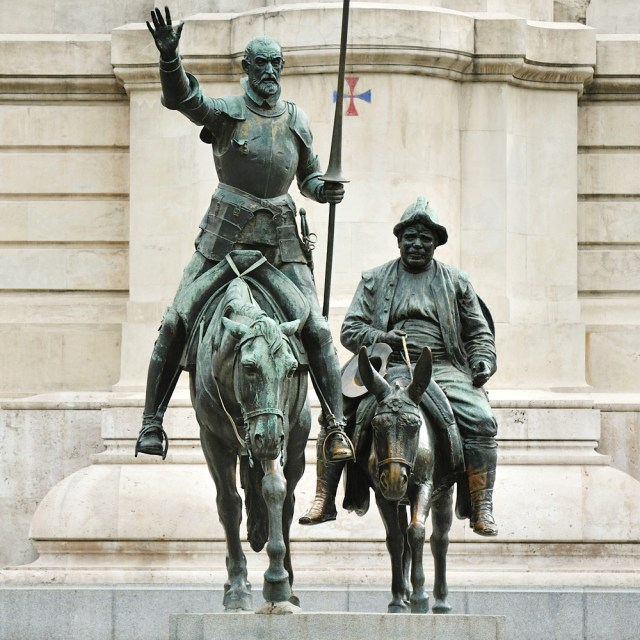 Monument of Don Quixote and Sancho in Madrid SansiriBlog