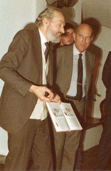 Artist Nadir Afonso and Francisco Pereira Coutinho