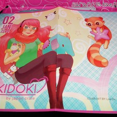 The cover image spread. Cover art is credited to artist: Lisa Ou.